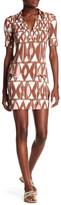TORI RICHARD Printed Short Sleeve Dress