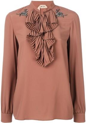 No.21 ruffle bib blouse