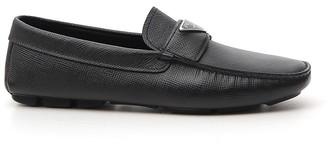 Prada Saffiano Logo Loafers