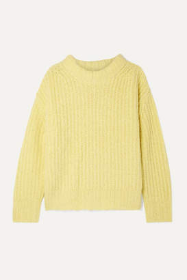 Sea Nora Oversized Ribbed-knit Sweater - Bright yellow