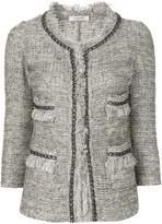 Charlott frayed edges tweed jacket