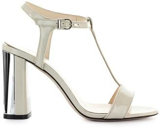 Marc Ellis Ivory Patent Silver Sandal