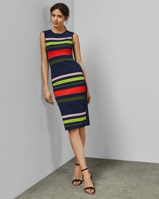 Ted Baker YSINA Stripe sleeveless knit bodycon dress
