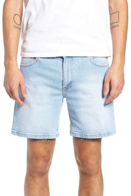 Denim & Supply Ralph Lauren Dr. Denim Supply Co Dr. Denim Jeansmaker Denim Shorts (Shaded Light Blue Ripped)