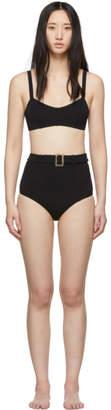 Lisa Marie Fernandez Black Genevieve Belted High-Waist Bikini