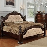 Goulding Upholstered Four Poster Bed Astoria Grand Size: King, Color: Ivory