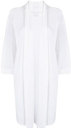 Majestic Filatures Open-Front Linen Cardigan