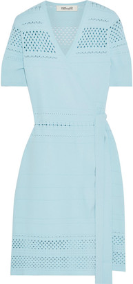 Diane von Furstenberg Ivy Pointelle-knit Wrap Dress