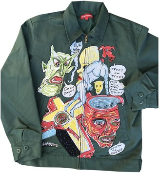 Supreme Green Cotton Jackets