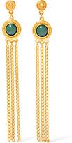 Ben-Amun Gold-Tone And Stone Earrings