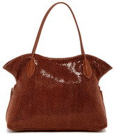Sorial Double Handle Embossed Leather Tote