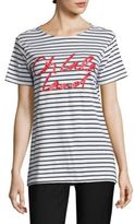 Each X Other Striped Cotton Graphic Tee