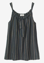 Toast Stripe Linen Drawstring Top