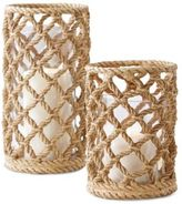 Twos Company Two's Company Rope Candle Holder- Set of 2