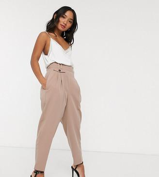 ASOS DESIGN Petite tailored high waist balloon pants