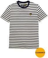 Lyle & Scott Boys Breton Stripe Short Sleeve T-shirt D