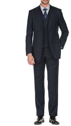 English Laundry Slim-Fit Plaid 3-Piece Suit
