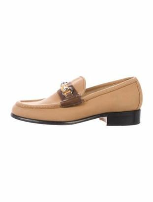 Gucci Canvas Web Loafers Tan