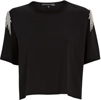 Veronica Beard Rumia Rhinestone Fringe T-Shirt