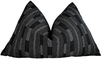 Fragments Identity By Tammy Price Monaco 25x16 Lumbar Pillow - Black/White