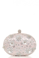 Quiz Pink Embellished Oval Clutch Bag
