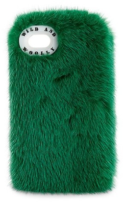 Wild And Woolly Dyed Mink Fur iPhone 7 Case