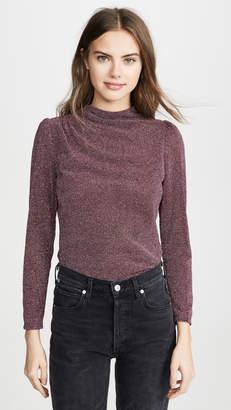 Rebecca Taylor Long Sleeve Metallic Blouse