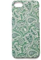 Pretty Green Paisley Print Iphone 8 Case
