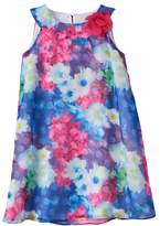 Us Angels Toddler Girl Lavender by Floral Trapeze Dress