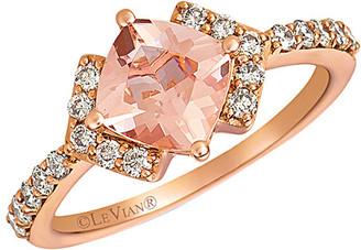 LeVian Le Vian 14K Rose Gold 1.40 Ct. Tw. Diamond & Peach Morganite Ring
