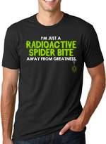 Crazy Dog T-shirts Crazy Dog Tshirts One Radioactive Spider Bite Away T Shirt Funny Superhero Tee
