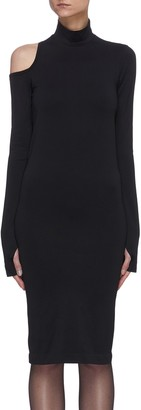Helmut Lang Asymmetric back cut out mock neck dress