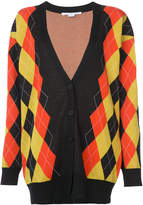 Stella McCartney argyle v-neck oversized cardigan