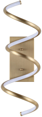 Jonathan Y Designs Scribble 7In Modern Integrated Led Vanity Light Sconce