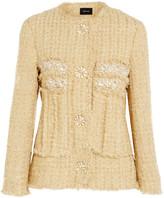 Simone Rocha Embellished Metallic Tweed Jacket - Gold