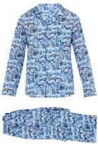 Derek Rose - Ledbury City Print Cotton Pyjama Set - Mens - Blue