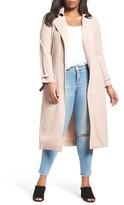 Plus Size Women's Elvi Belted Long Trench Coat