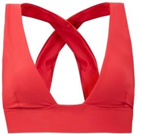 Haight Crossover-strap Bikini Top - Red