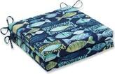 Earles Beach Indoor/Outdoor Dining Chair Cushion Highland Dunes Fabric: Lagoon
