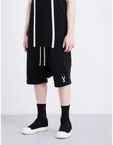 Rick Owens Drkshdw Felpa High-rise Cotton Shorts