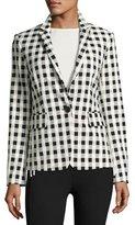 Rag & Bone Archer Single-Button Check Blazer, Black/White