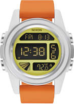 Nixon Men's Rebel Pilot Digital Orange Silicone Strap Watch 44mm A197SW