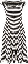 Max Mara Weekend VALDESE sleeveless striped fit and flare dress