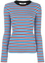 MSGM ribbed detail logo jumper