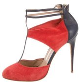 Aquazzura Suede T-Strap Pumps