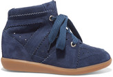 Etoile Isabel Marant Bobby Suede Wedge Sneakers - Navy