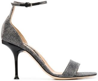 Sergio Rossi Metallic Stiletto Sandals