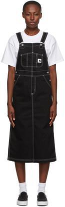 Carhartt Work In Progress Black Bib Long Skirt Dress