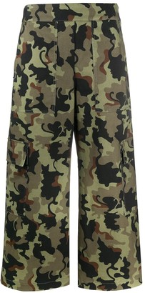 VIVETTA Cropped Flare Cargo Trousers