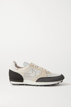 Nike Daybreak Type Leather-trimmed Embroidered Mesh And Suede Sneakers - Beige